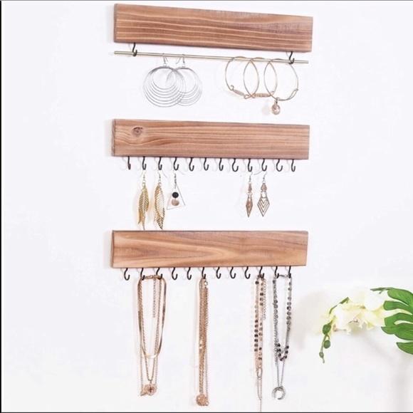 Wooden Hanging Jewelry Organizer